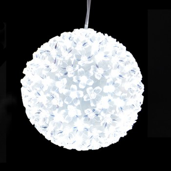 PALLA LED 300 LUCI  - BIANCO