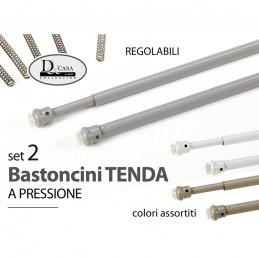 ASTE TENDE 30-40CM PVC 2PZ