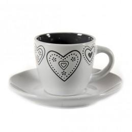 TAZZE CAFFE CUORI PZ 6