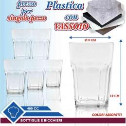 BICCHIERE PLASTICA 400 CC
