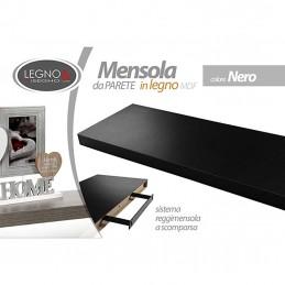 MENSOLA NERA 60X25X4 CM